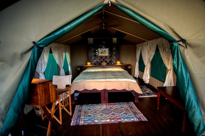 Selous Impala Camp tent interior
