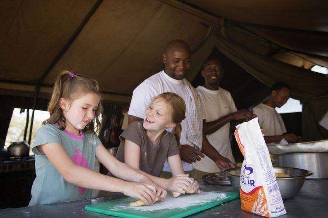Serengeti Safari Camp children cooking