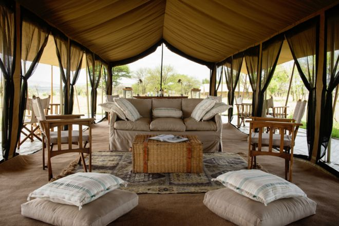 Serengeti Safari Camp lounge