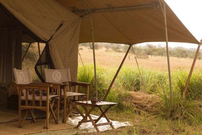 Serengeti Safari Camp tent exterior