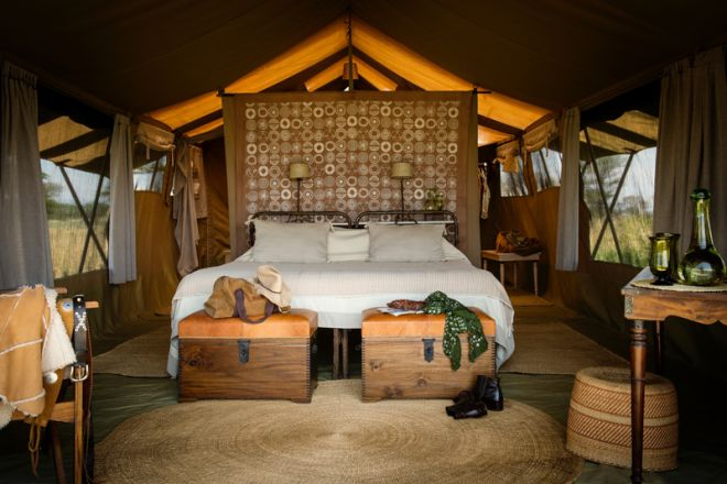 Serengeti Safari Camp tent interior