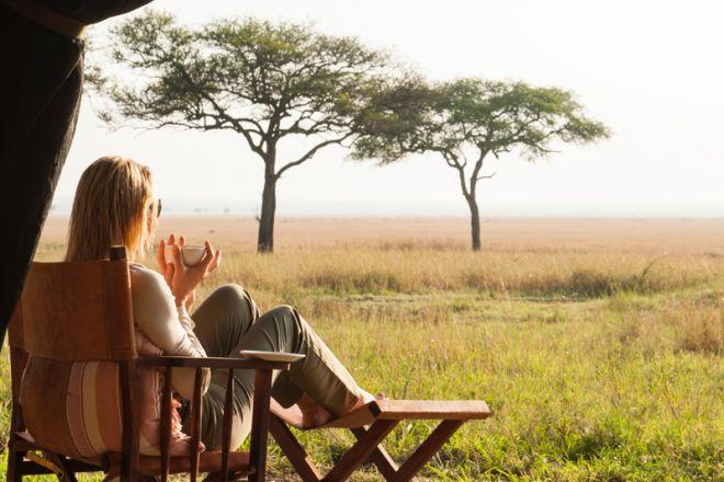 Serengeti Safari Camp tent view
