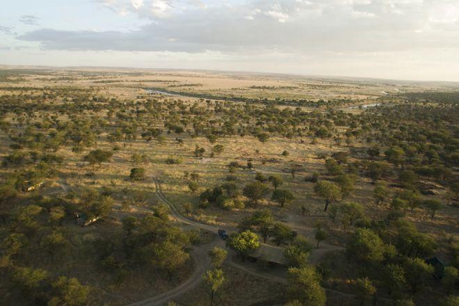 Serian Serengeti Lamai Camp aerial view