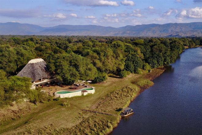 Time + Tide Chongwe House Aerial View River