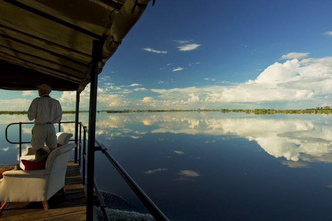 Zarafa Camp Barge Boat
