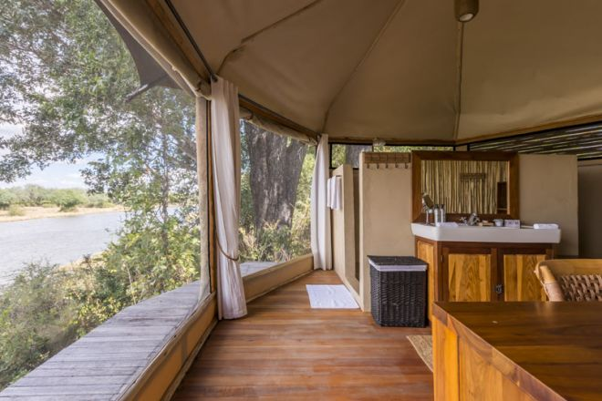 Amanzi Camp Bathroom View