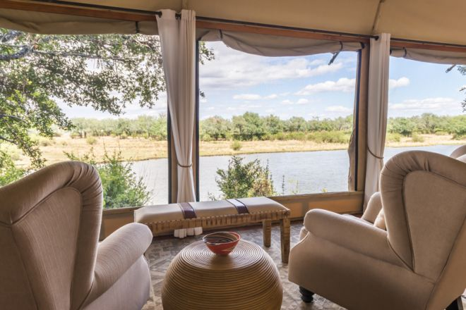 Amanzi Camp Room Lounge View