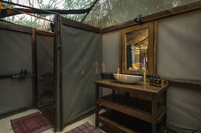 Busanga Bush Camp Bathroom
