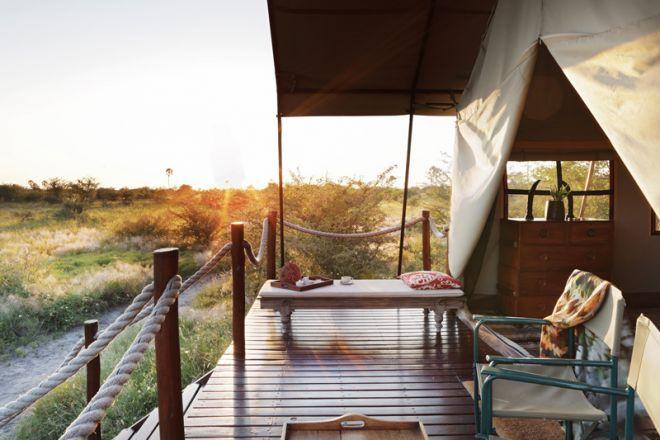 Camp Kalahari Tent View