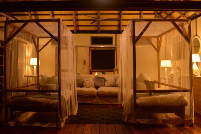 Chiawa Camp Safari Suite with Kids Beds