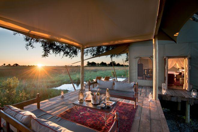 Duba Plains Tent Deck Lounge