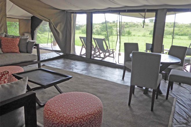 Kicheche Mara Camp Family Tent Two Bedroomed Lounge