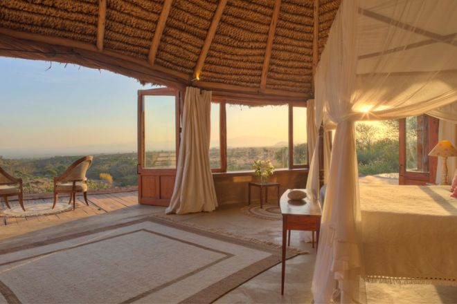 Lewa Wilderness Camp Bedroom and View