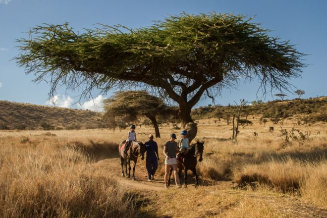 Lewa Wilderness Camp Children Horse Riding
