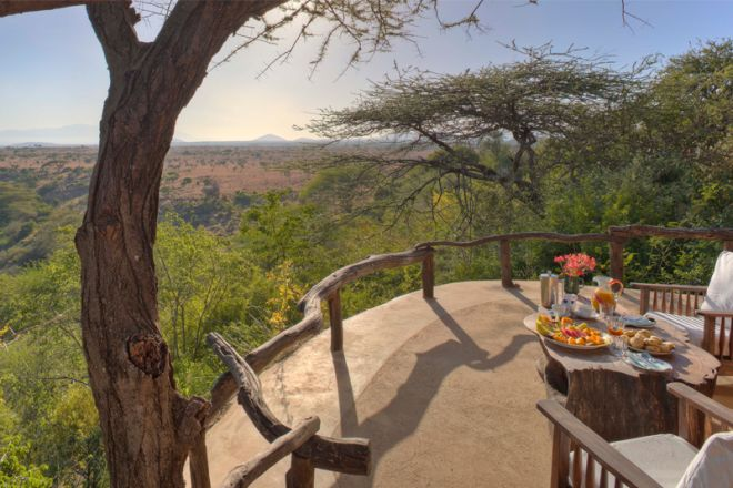 Lewa Wilderness Camp Deck View