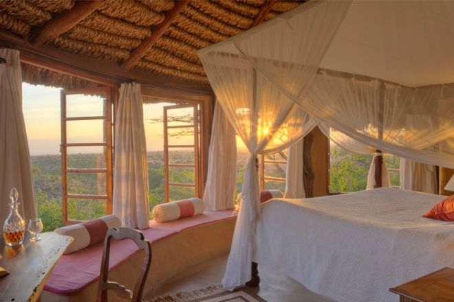 Lewa Wilderness Camp Interior Bedroom and View
