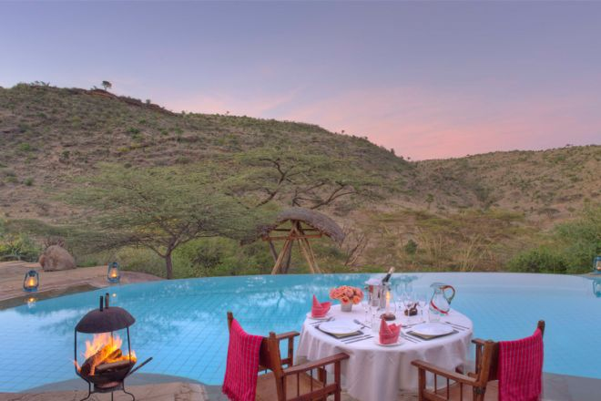 Lewa Wilderness Camp Poolside Dining