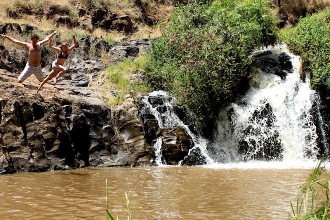 Lewa Wilderness Camp Waterfall by Camp Swimming