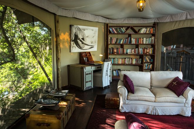Mara Plains Camp Library