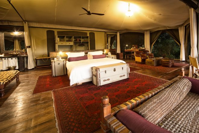 Mara Plains Camp Room and Deck