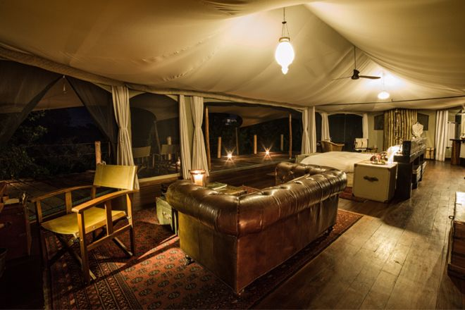 Mara Plains Camp Room Lounge
