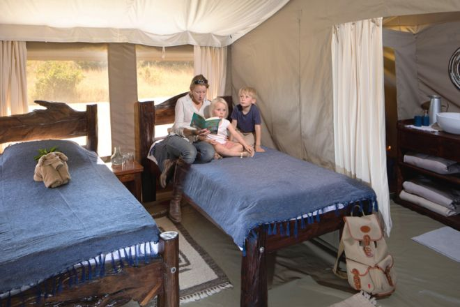 Offbeat Mara Camp Family Tent Second Bedroom