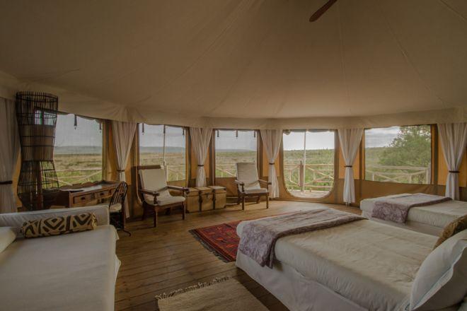 Ol Seki Hemingways Mara Tent Interior and View
