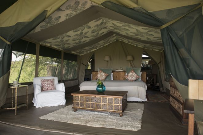 Richards River Camp Tent Interior