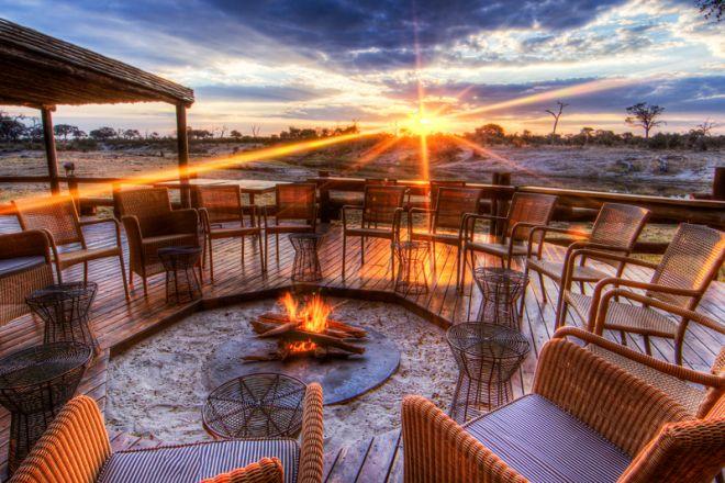 Savute Safari Lodge Fire Deck
