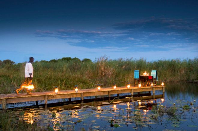Selinda Camp Private Jetty Dining