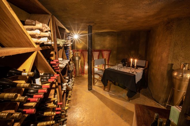 Selinda Camp Wine Cellar Dining
