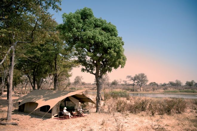 Selinda Explorers Camp Tent Setting