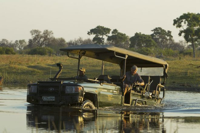 Selinda Camp Game Drive Deep Water