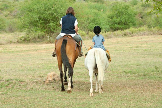 Sosian family horse riding