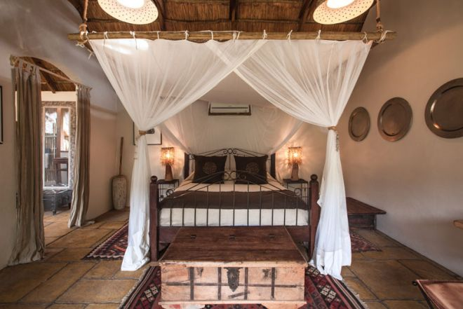Tongabezi Lodge Garden House Double Bedroom