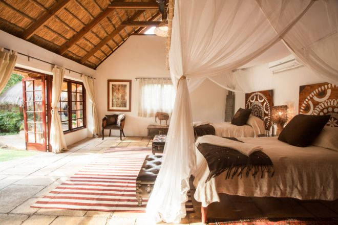 Tongabezi Lodge Garden House Twin Bedroom