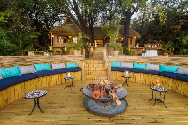 Tongabezi Lodge Fire Deck