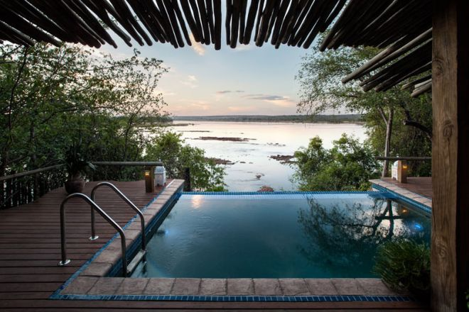 Tongabezi Lodge Nut House Pool View