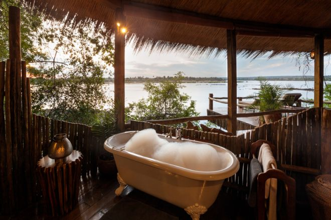 Tongabezi Lodge Tree House Bathroom View