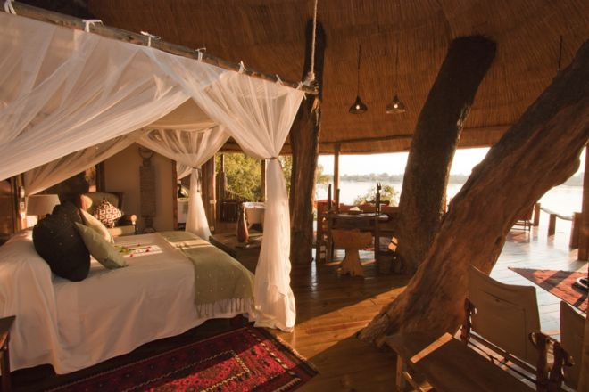 Tongabezi Lodge Tree House Bedroom View