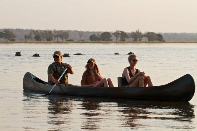 Tusk & Mane Mobile Camping Canoe Hippos