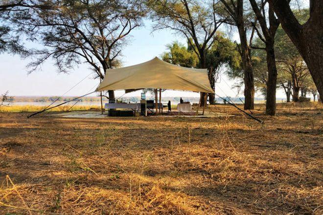 Tusk & Mane Mobile Camping Kutali Island Main Area