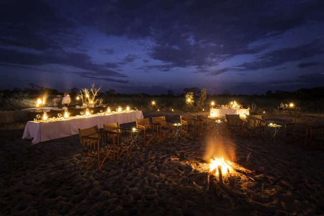 Vumbura Plains Bush Dinner