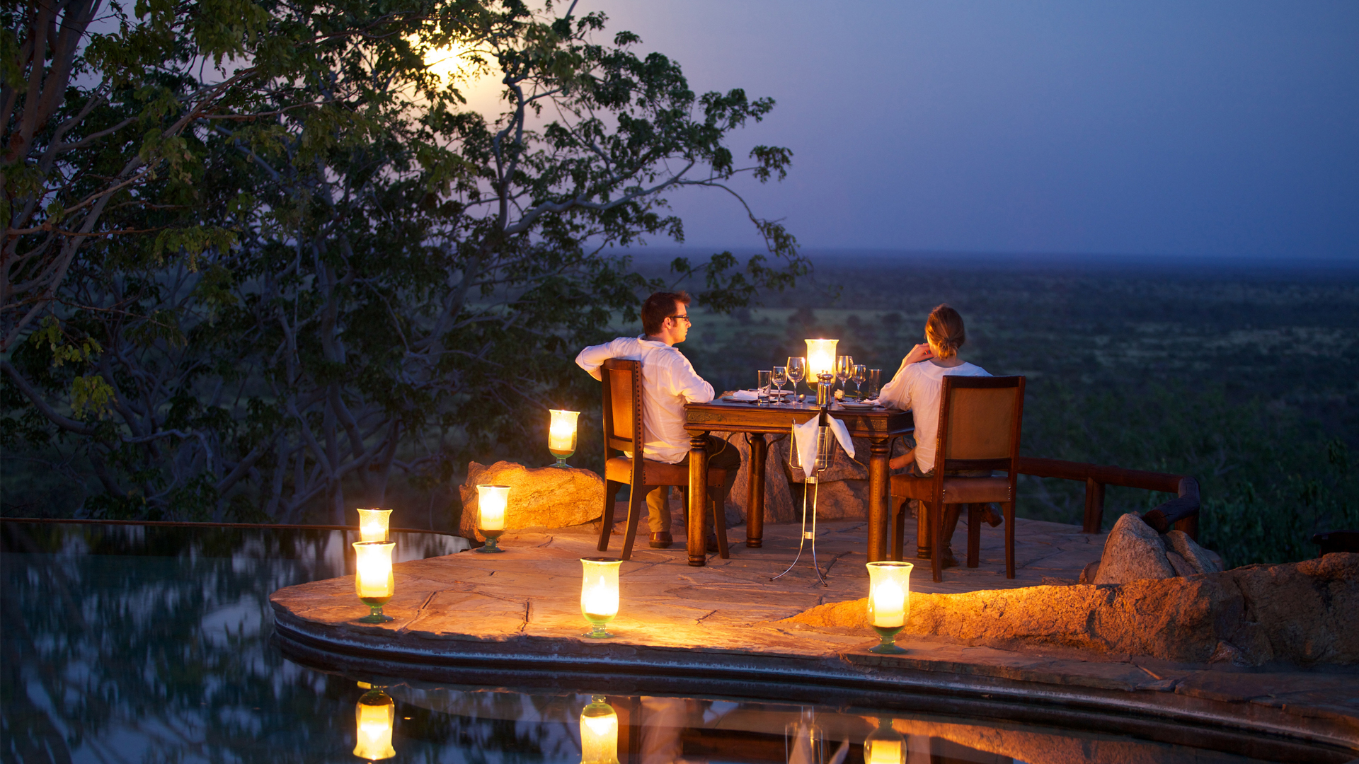 Kenya Honeymoon elewana elsas kopje poolside dining