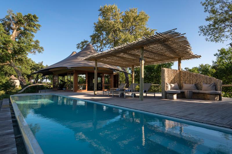 accommodation on safari mombo lap pool