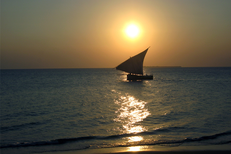 About Us zanzibar boat sunset