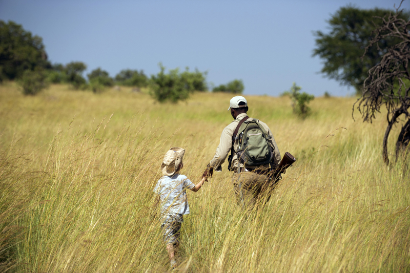 Family Safaris tanzania mkombes house child walk