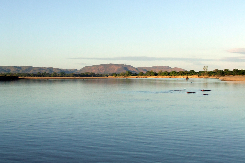 zambia regions south and north luangwa water scene