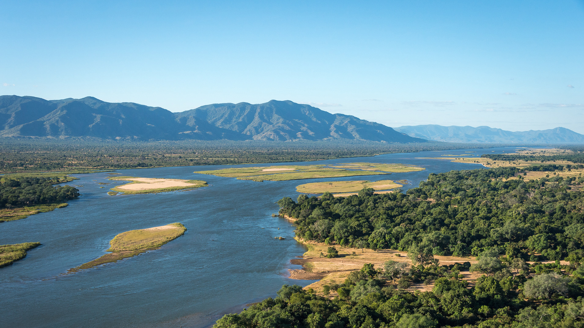zimbabwe regions mana pools aerial view