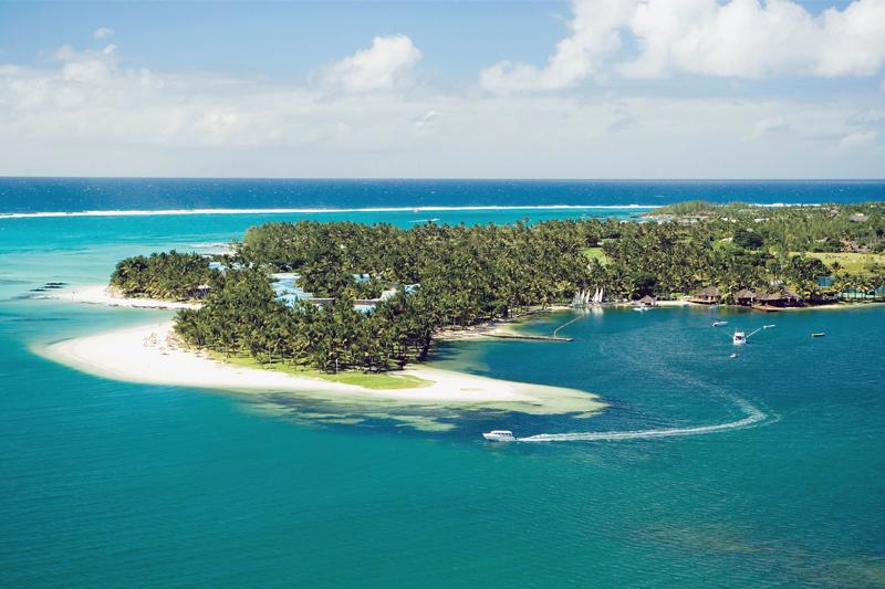 mauritius saint geran aerial view